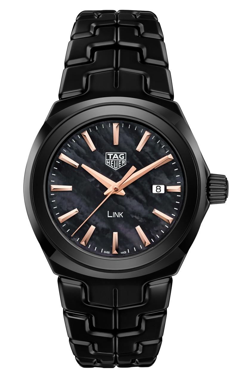 LINK Кварцевые женские часы с черным циферблатом