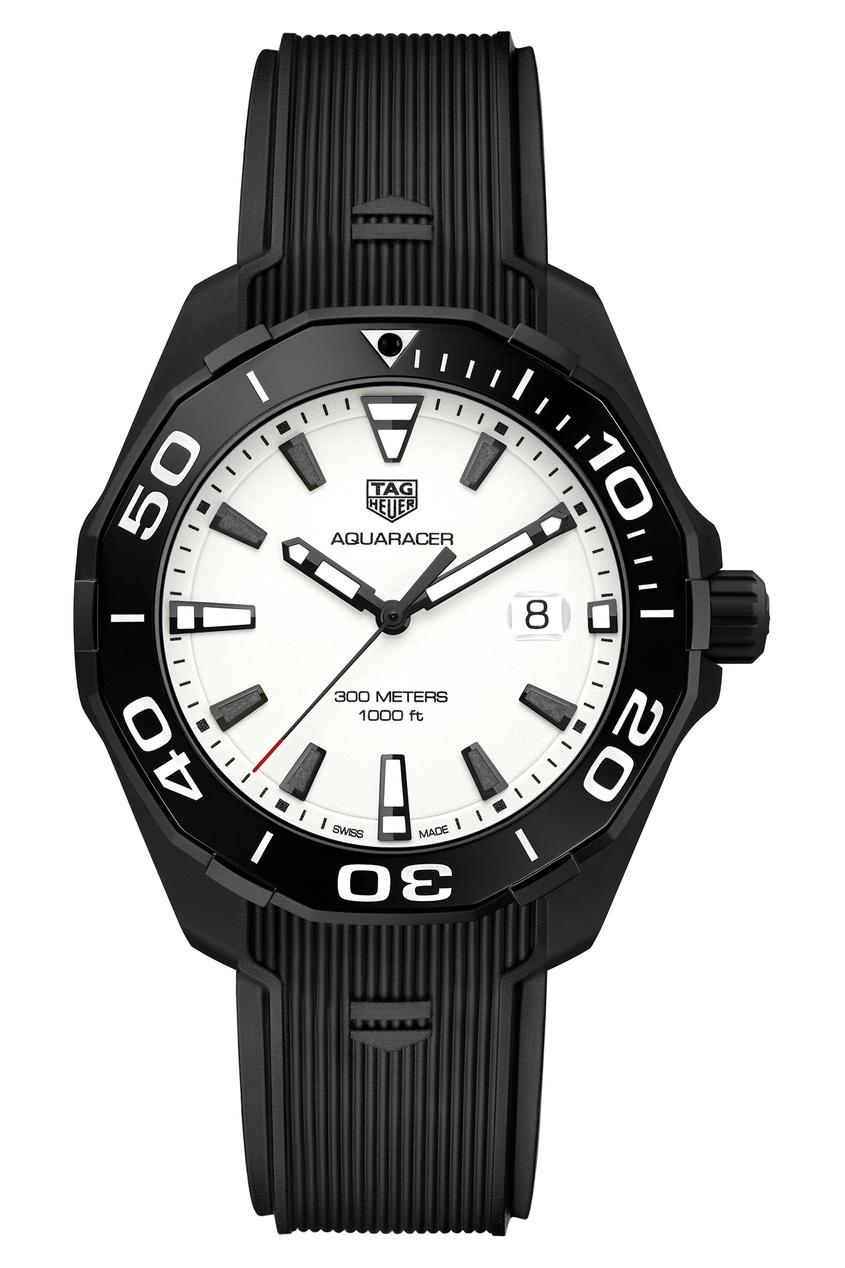 Фото - AQUARACER Кварцевые мужские часы с белым циферблатом цвет без цвета