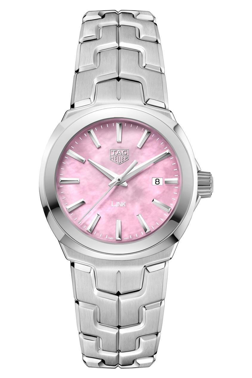 LINK Quartz Кварцевые женские часы с розовым перламутровым циферблатом