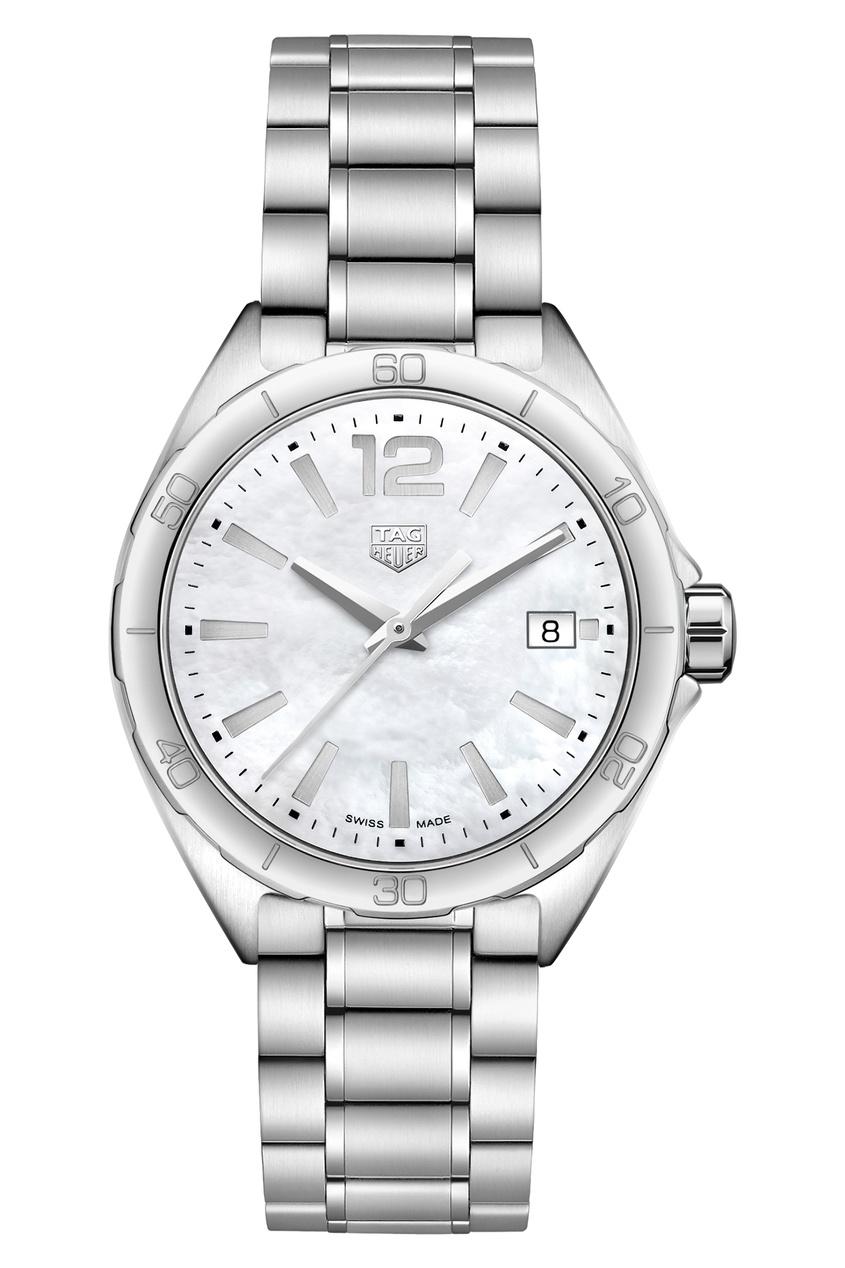 FORMULA 1 Кварцевые женские часы 35 мм с белым перламутровым циферблатом