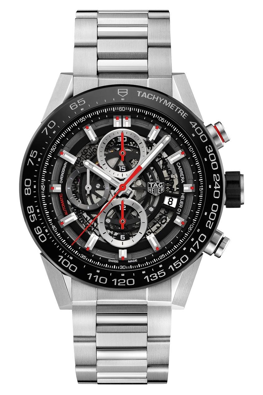 CARRERA Calibre Heuer 01 Автоматические мужские часы с черным циферблатом