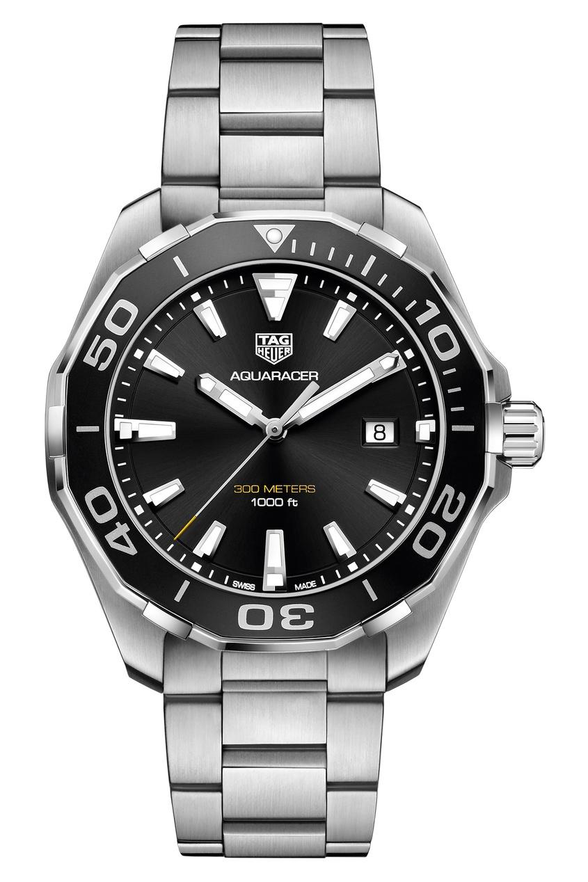 Фото - AQUARACER Кварцевые мужские часы с черным циферблатом цвет без цвета