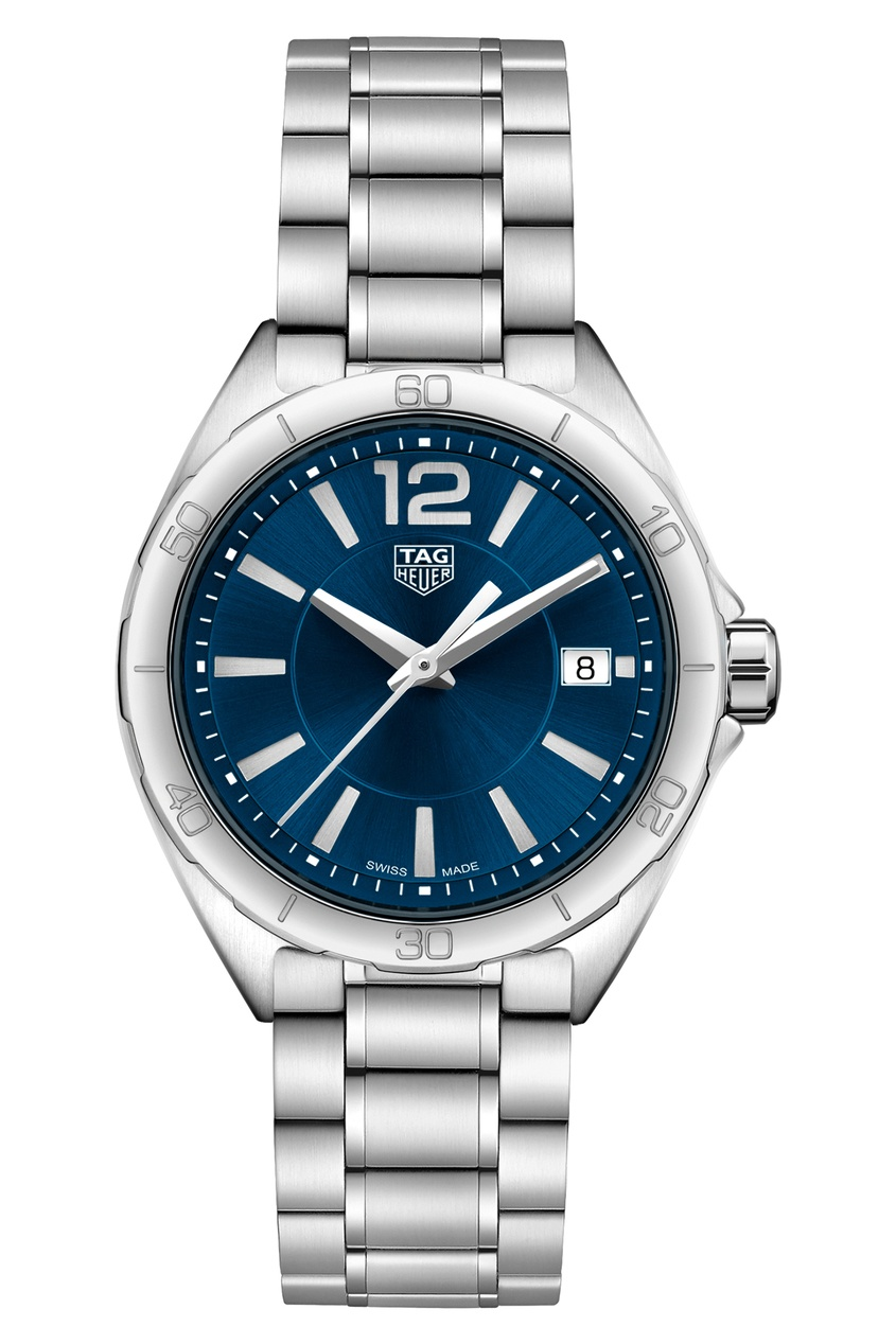 FORMULA 1 Кварцевые женские часы 35 мм с синим циферблатом
