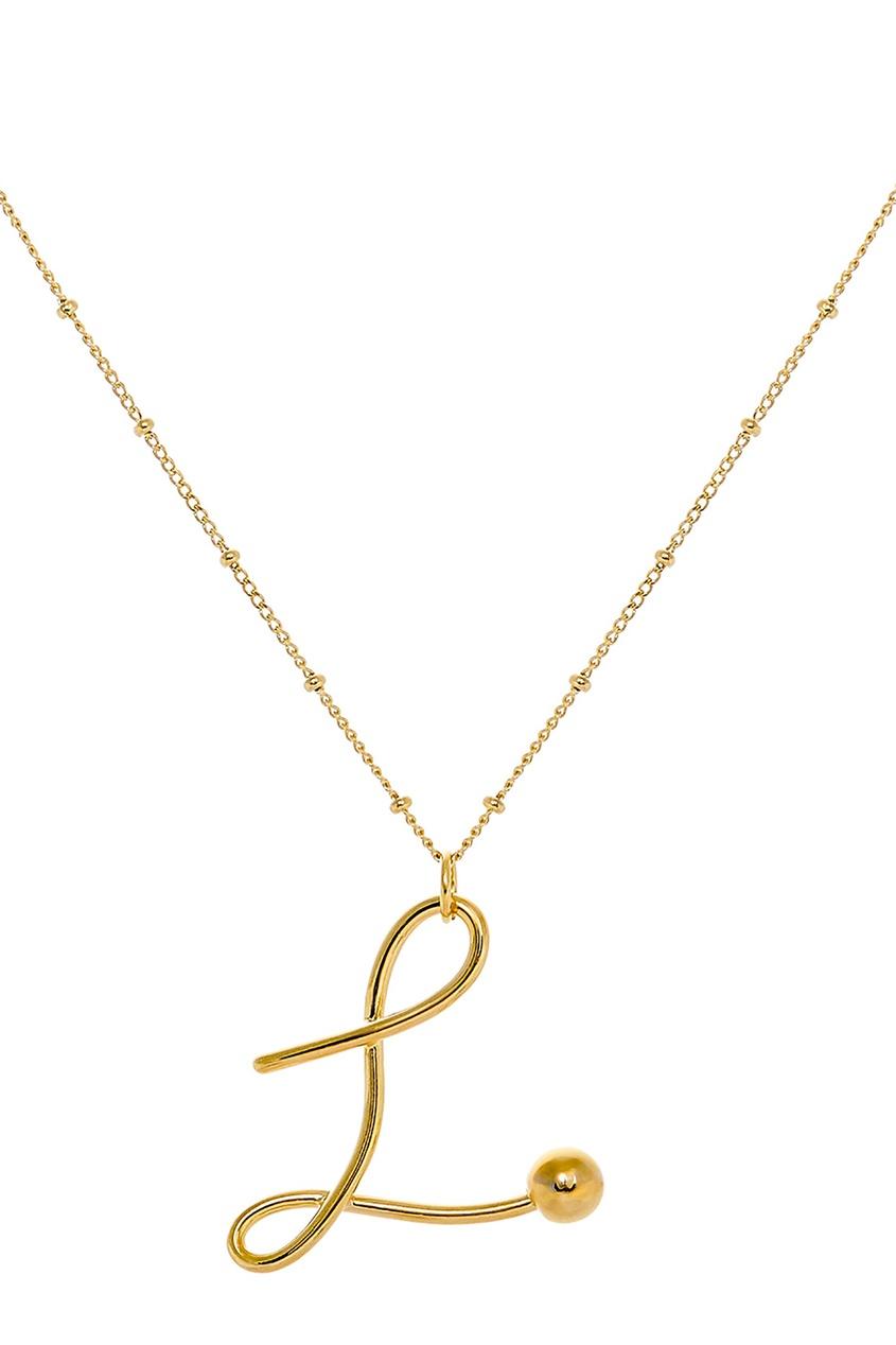 Фото - Золотистое колье с буквой L от Lisa Smith золотого цвета