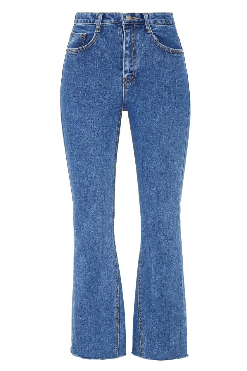 Синие джинсы клеш с пятью карманами D.O.T.127