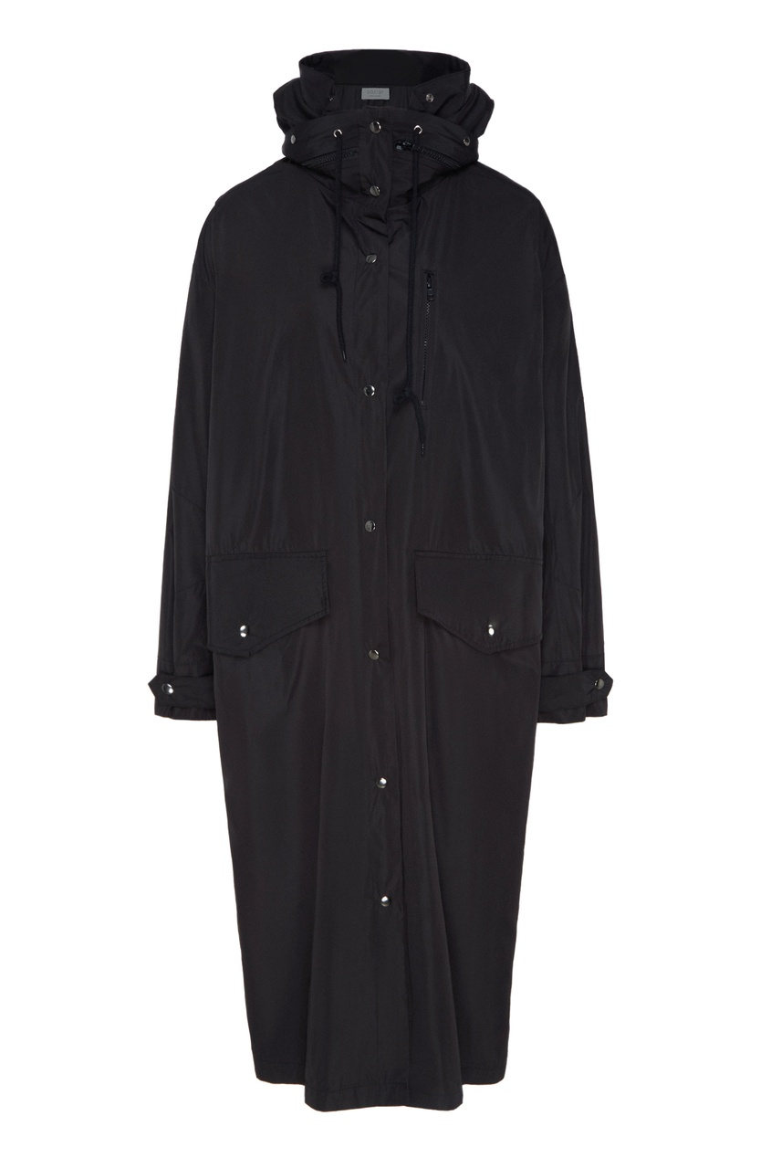 Черный плащ-пальто D.O.T.127