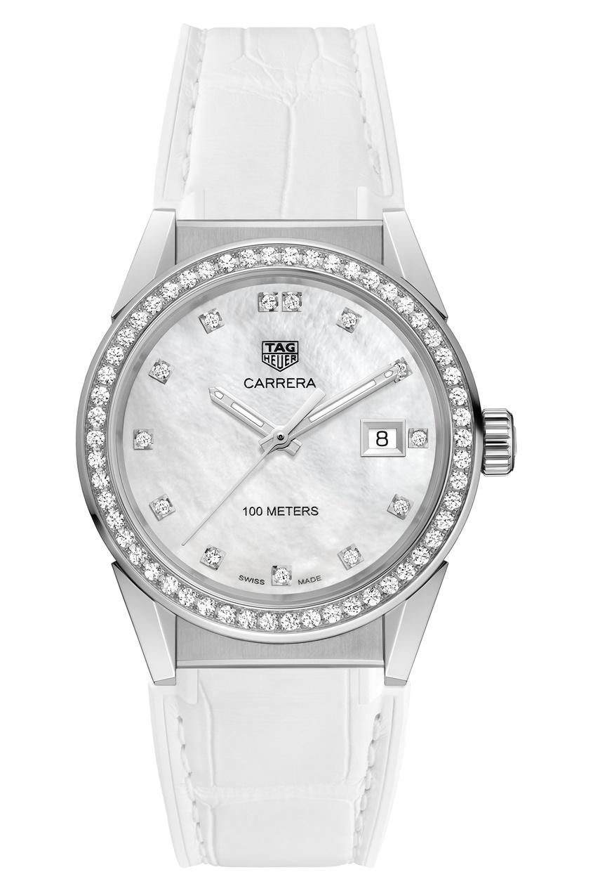 Фото - CARRERA Кварцевые женские часы с перламутром и бриллиантами цвет без цвета