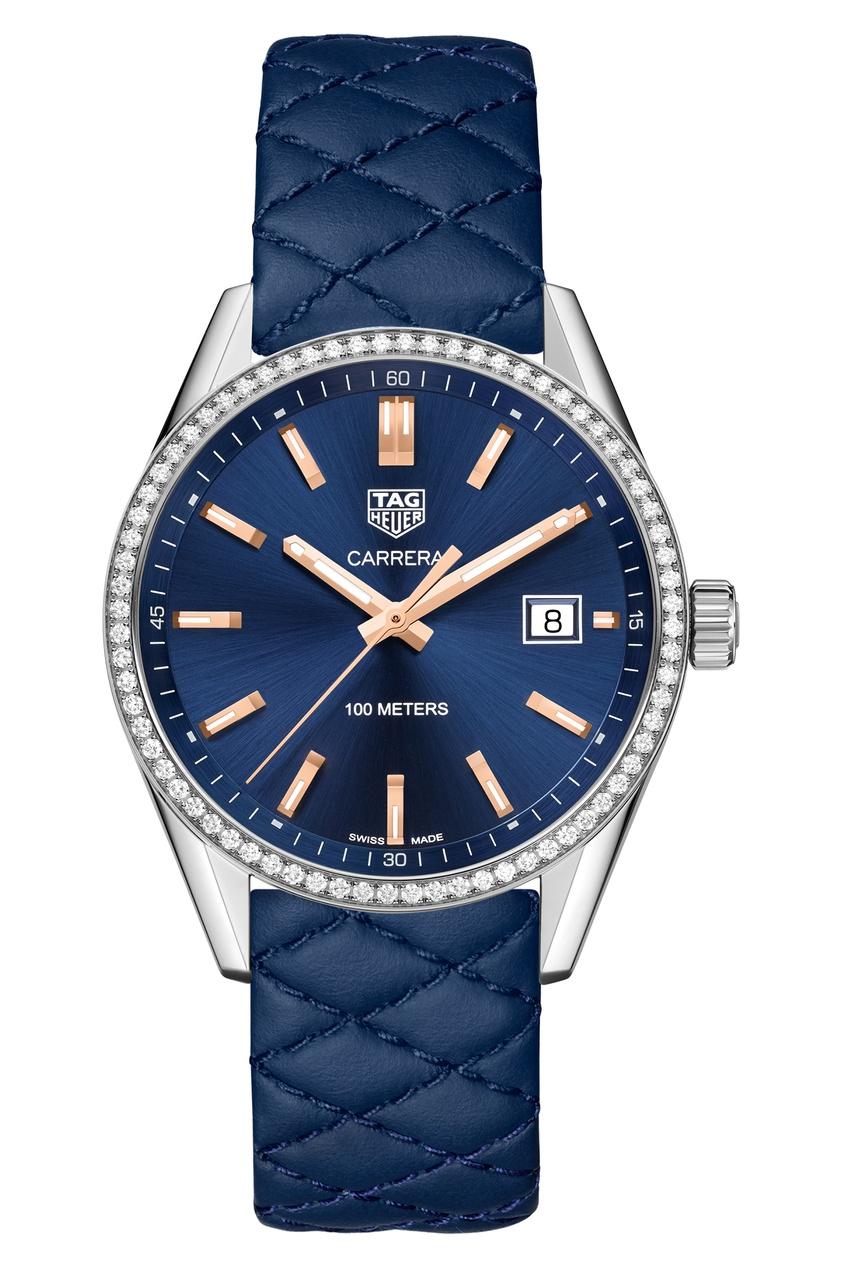 Фото - CARRERA Кварцевые женские часы с синим циферблатом и ремешком цвет без цвета