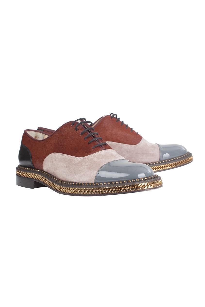 Christian Louboutin Кожанные ботинки Latcho Flat Patent/VV/Pony Lux/GG