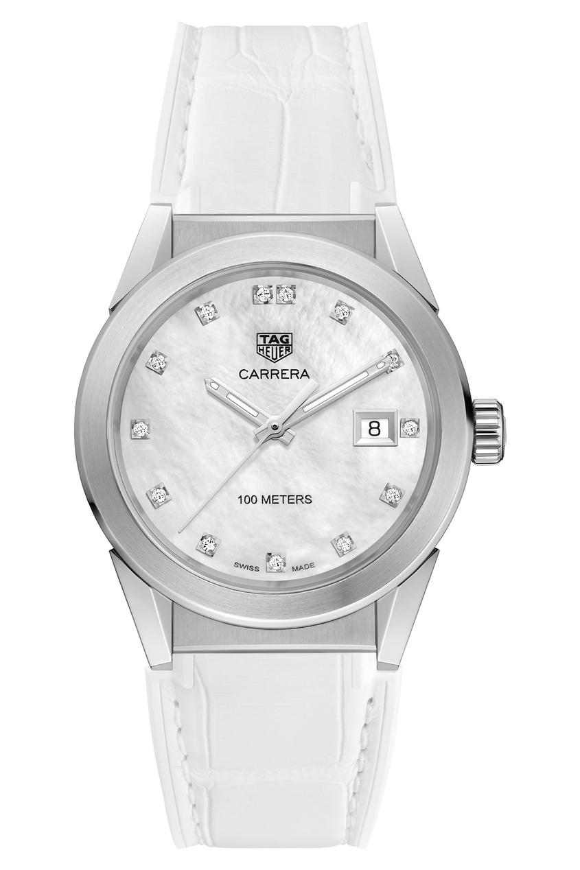CARRERA Кварцевые женские часы с белым перламутровым циферблатом