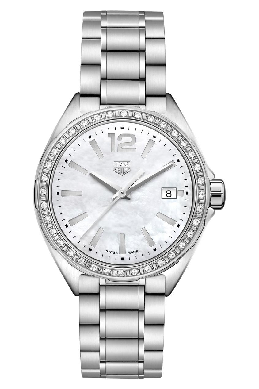FORMULA 1 Кварцевые женские часы 35 мм с белым циферблатом