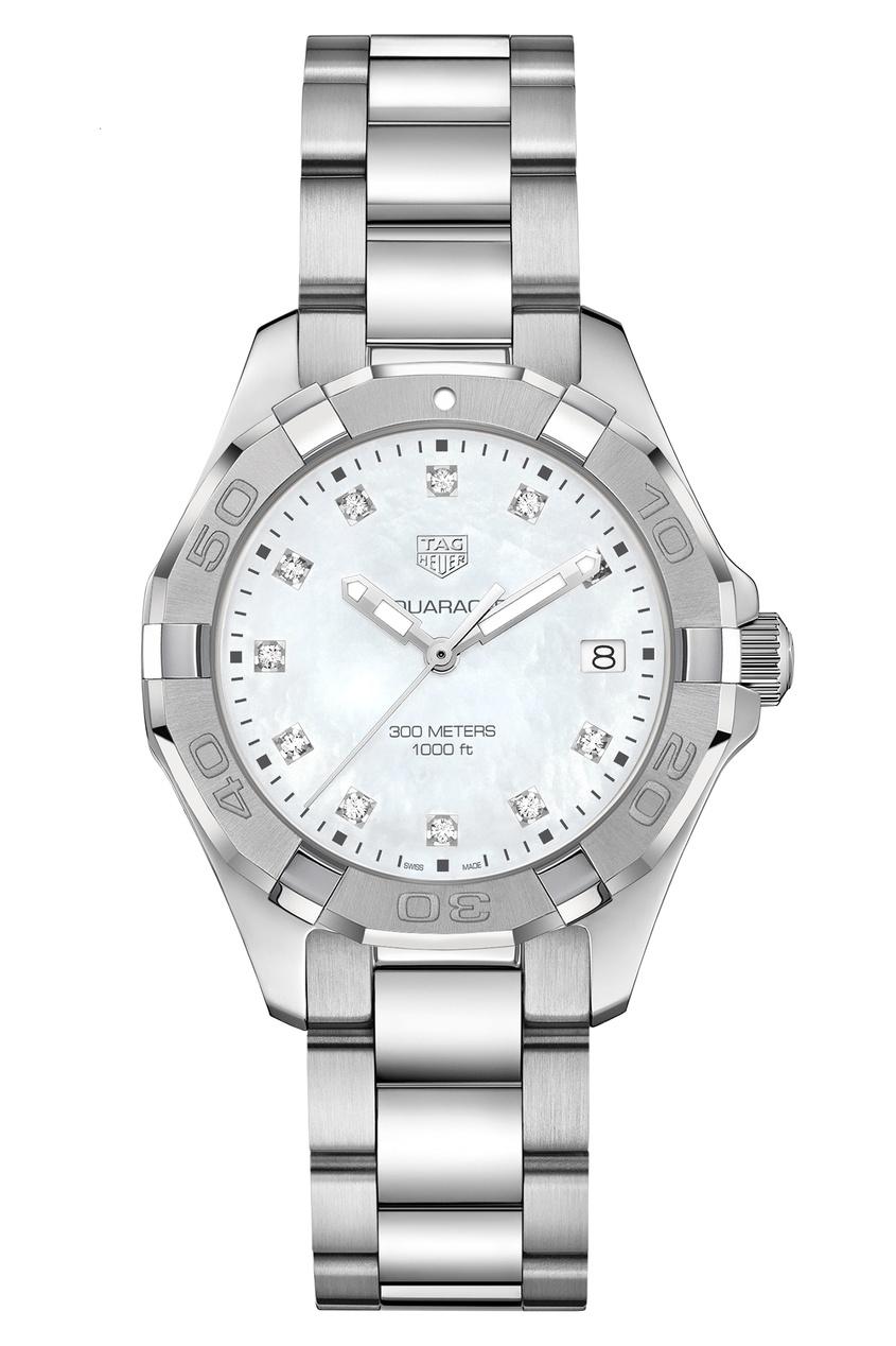 AQUARACER Кварцевые женские часы с перламутровым циферблатом