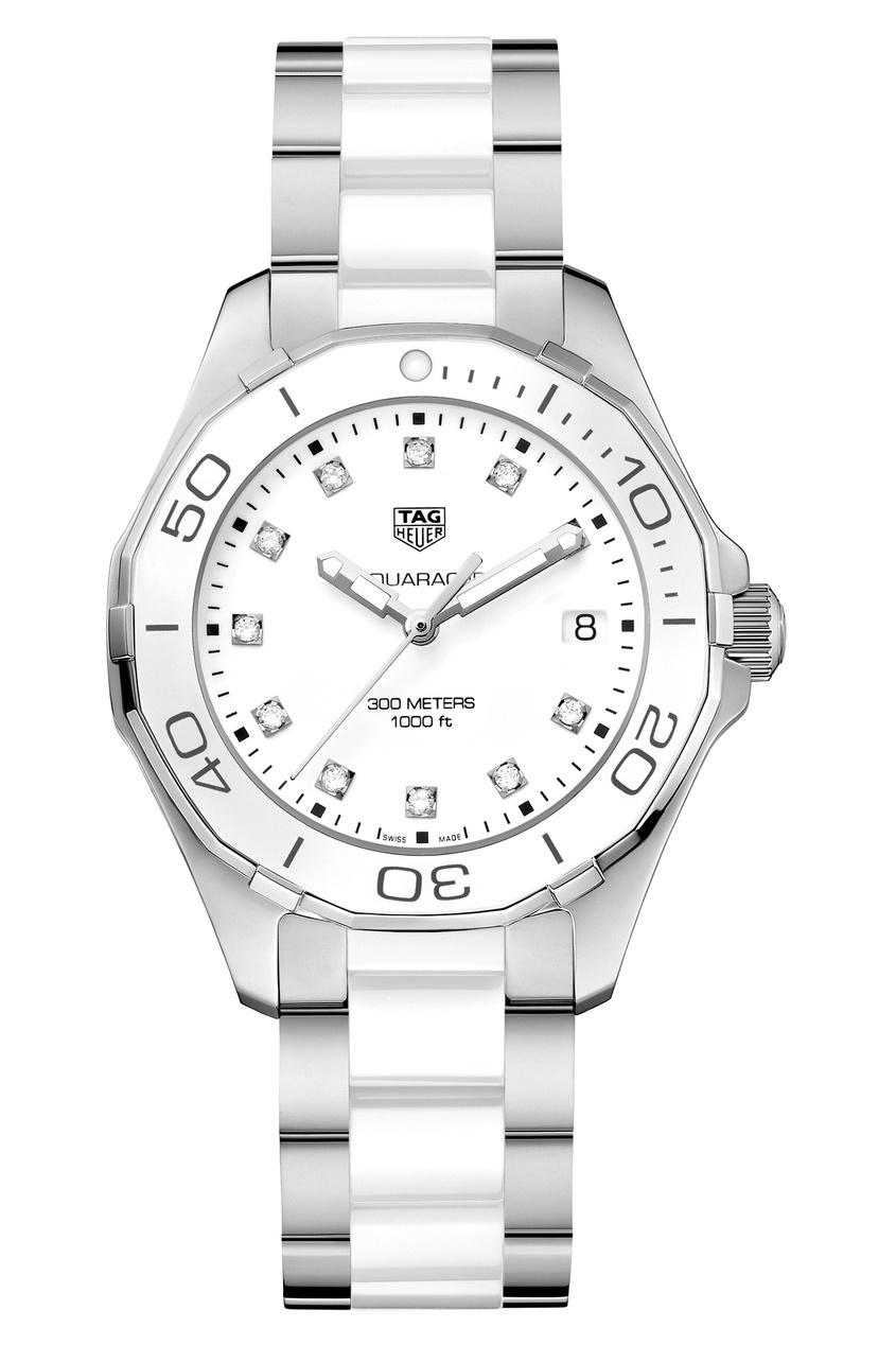 Фото - AQUARACER Кварцевые женские часы с белым циферблатом цвет без цвета