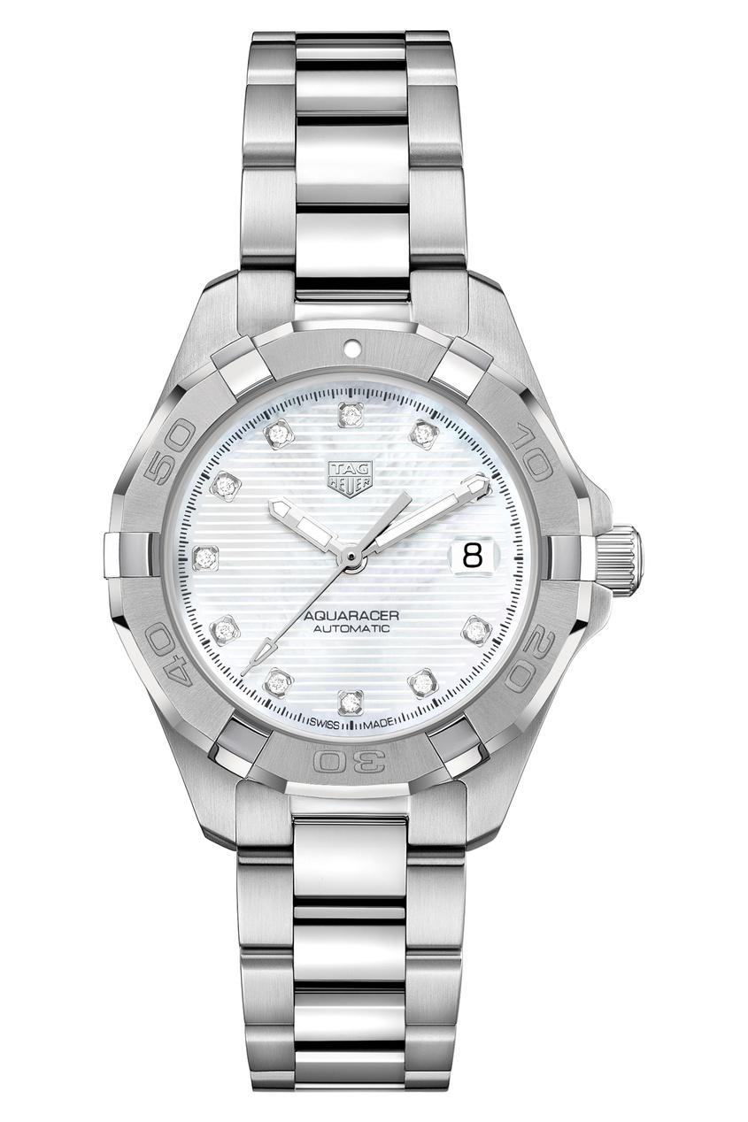 AQUARACER Calibre 9 Автоматические женские часы с перламутровым циферблатом.
