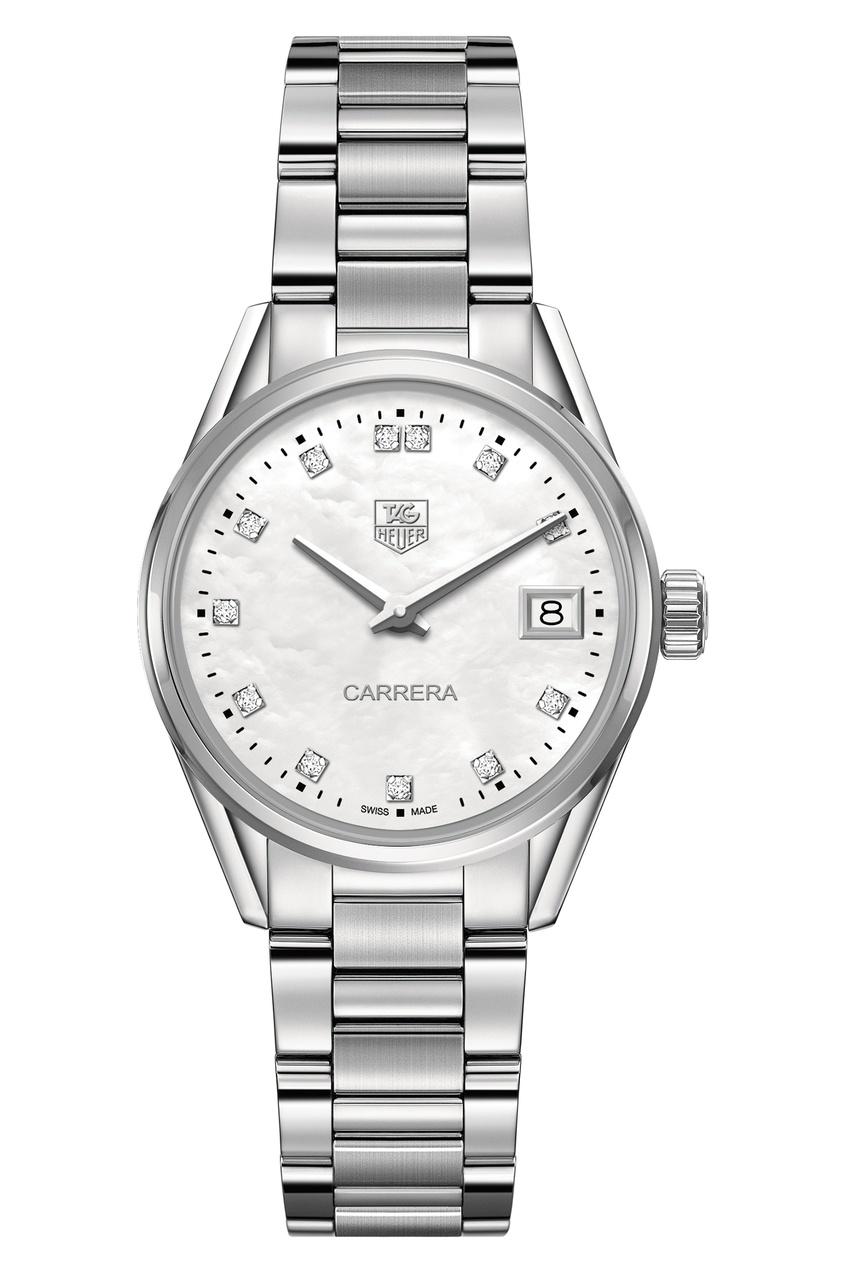 CARRERA Кварцевые женские часы с бриллиантами.
