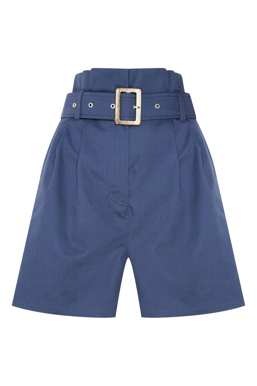 Синие шорты с поясом LAROOM