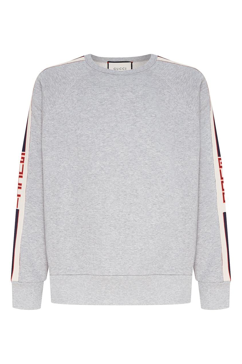 Купить Серый джемпер с полосами от Gucci Man серого цвета