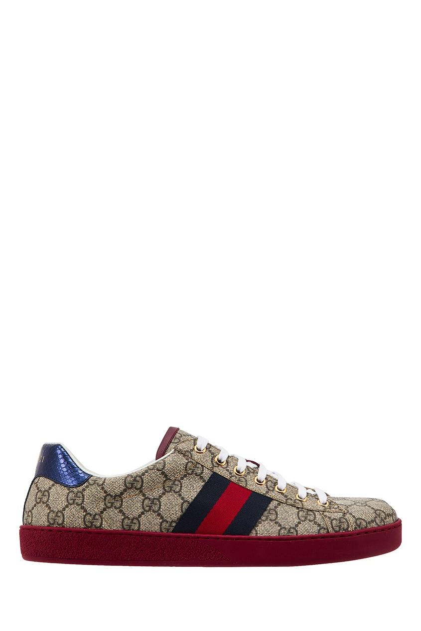 мужские кроссовки gucci man, бежевые