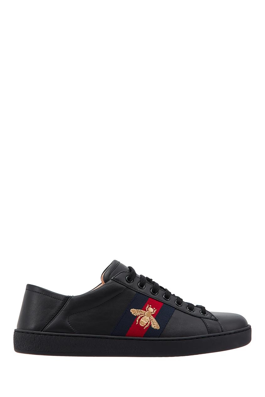 мужские кроссовки gucci man, черные