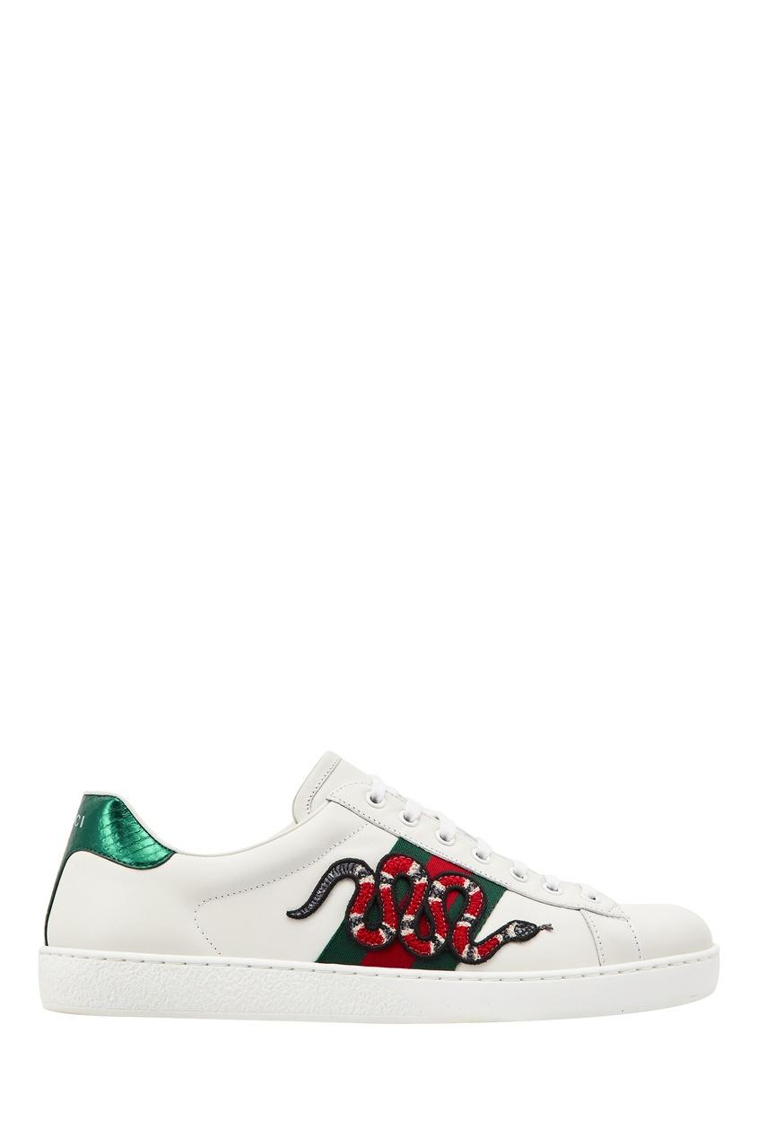мужские кроссовки gucci man, белые