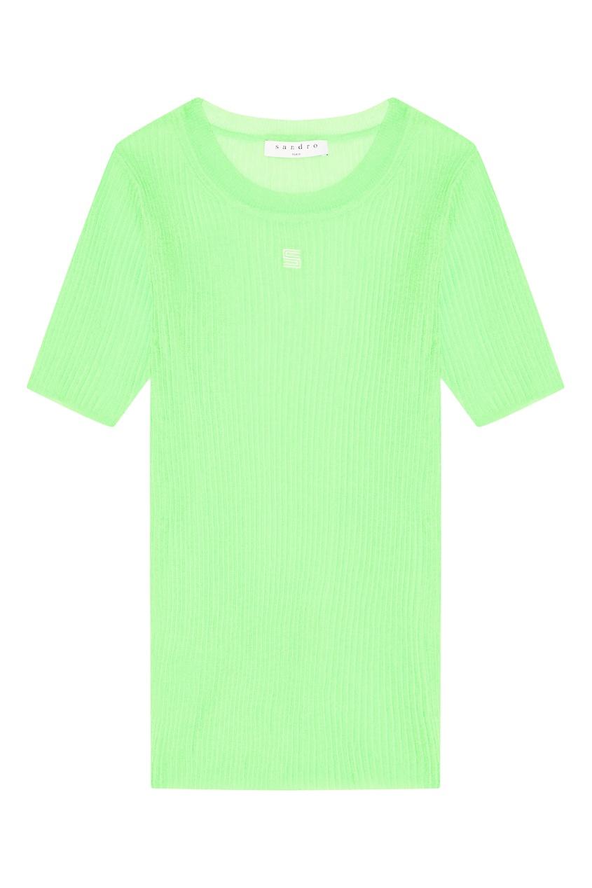 Топ флуоресцентно-зеленого цвета Sandro