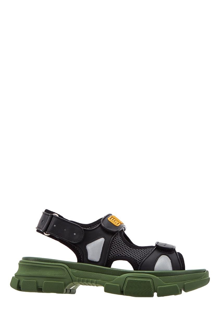 мужские сандалии gucci man