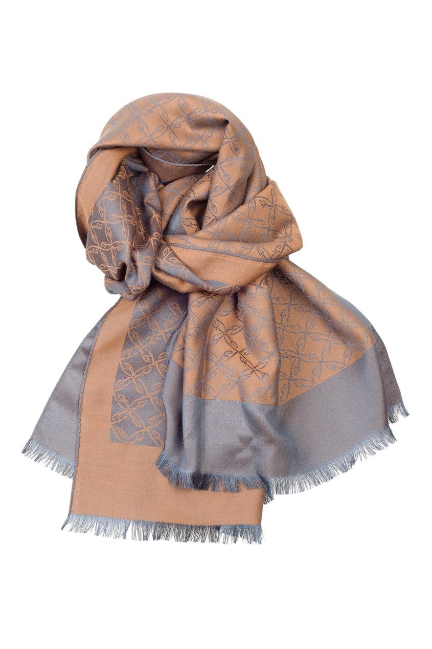 Комбинированный шарф с орнаментом Brioni
