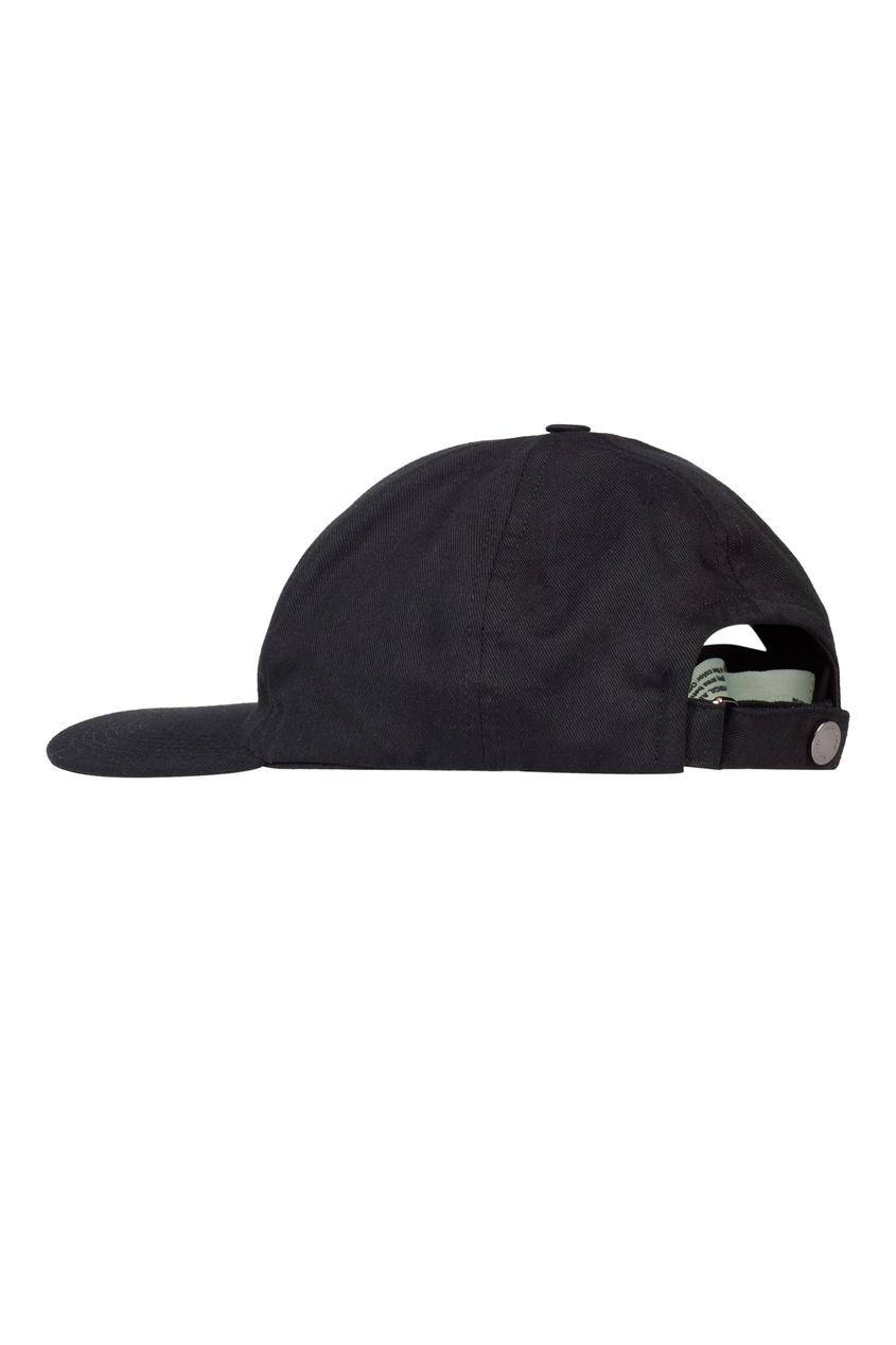женская бейсболка off-white, черная