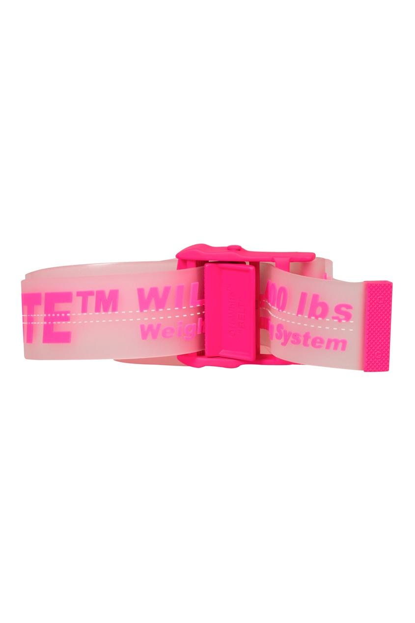 женский ремень off-white, розовый