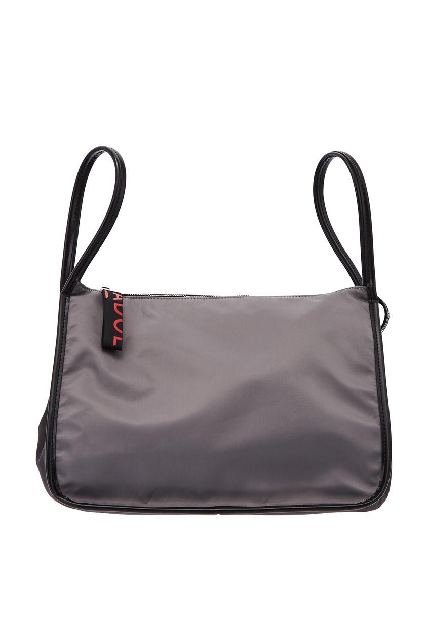 Фото - Серая текстильная сумка серого цвета