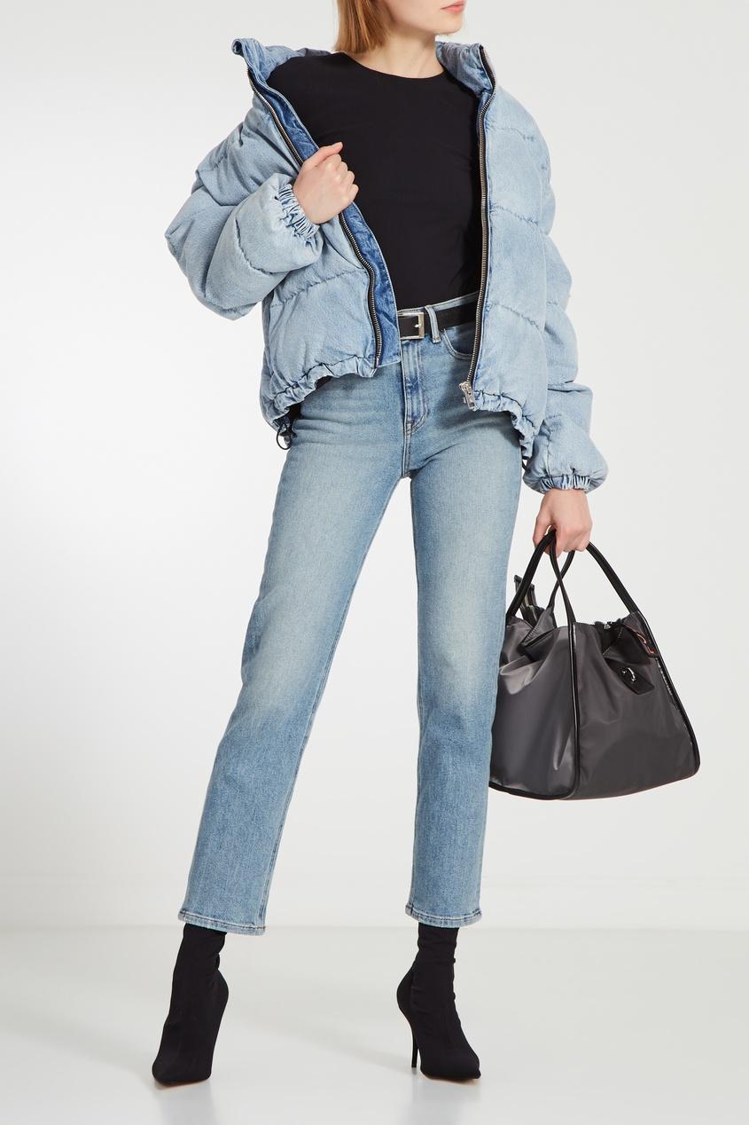 Фото 6 - Серая текстильная сумка серого цвета