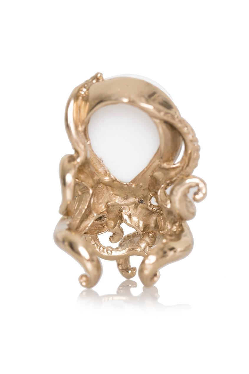Бронзовое кольцо с агатом от AIZEL