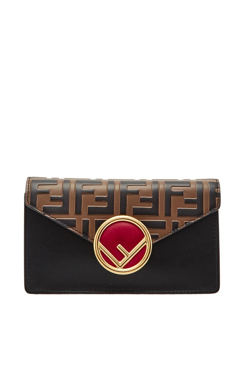 Поясная сумка с мотивом FF и логотипом F is Fendi