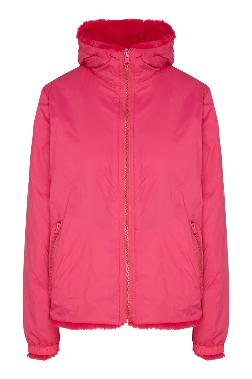 Купить Розовая куртка из экомеха от P.A.R.O.S.H. розового цвета