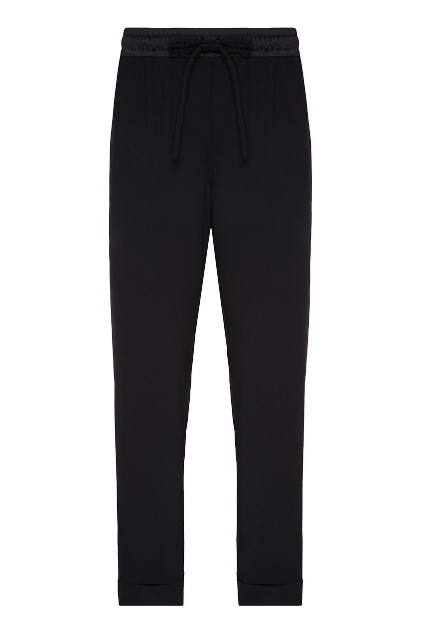 Купить Черные брюки с эластичным поясом от P.A.R.O.S.H. черного цвета