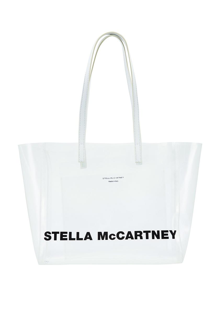 женская сумка stella mccartney, серая