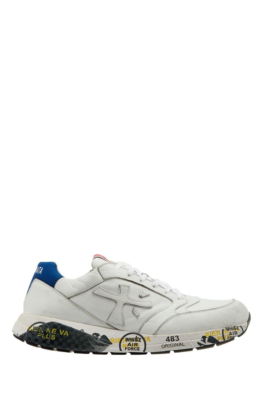 мужские кроссовки premiata, белые