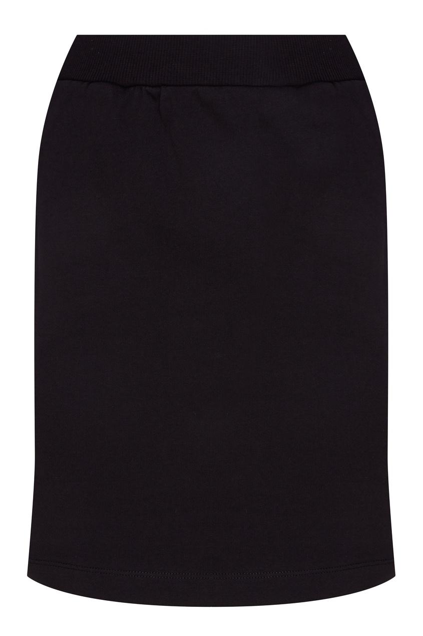 Черная юбка с логотипами