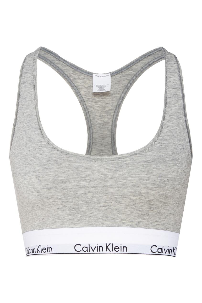 Серый спортивный топ от Calvin Klein