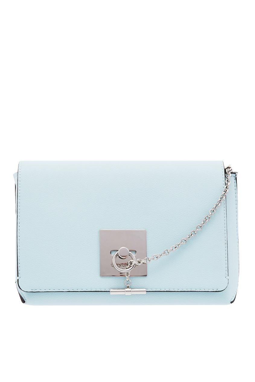 женская сумка calvin klein, голубая