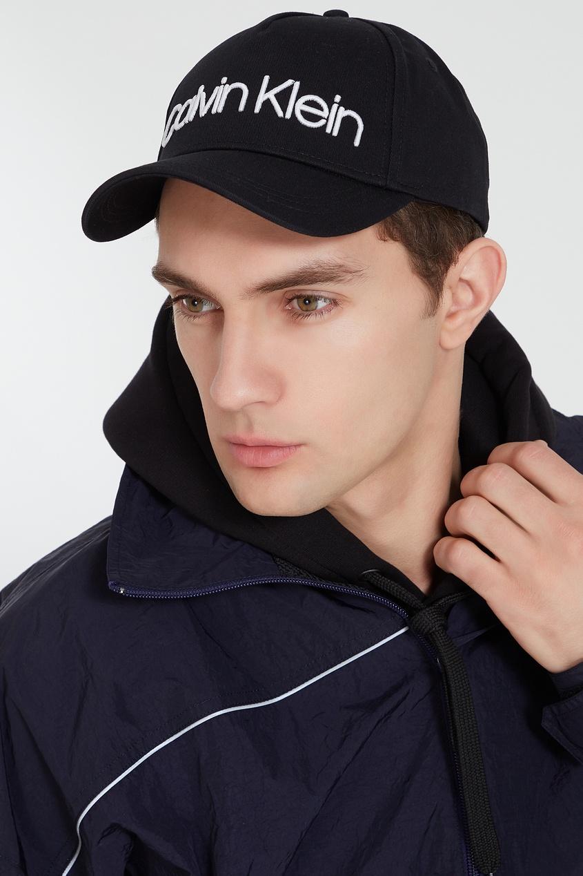 мужская кепка calvin klein, черная