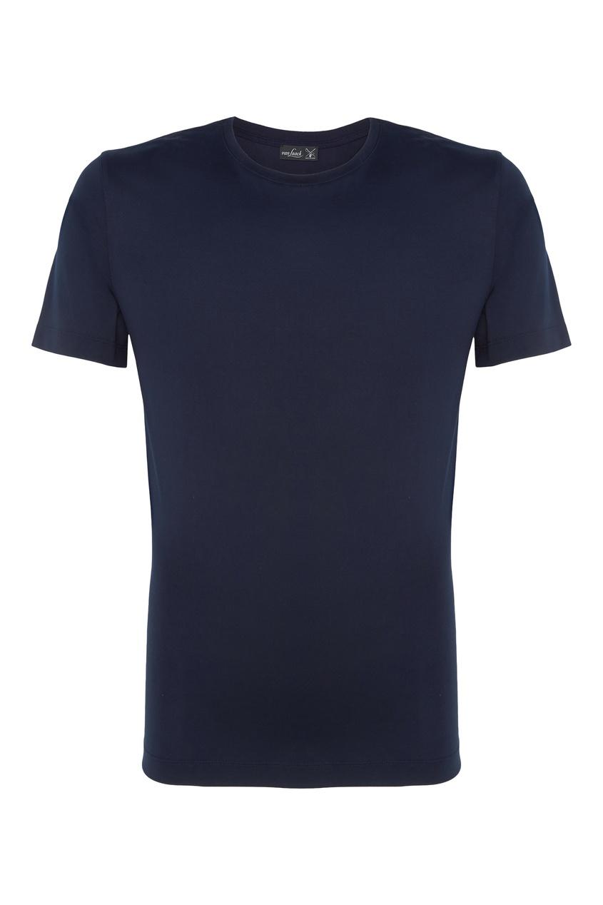 Хлопковая черная футболка