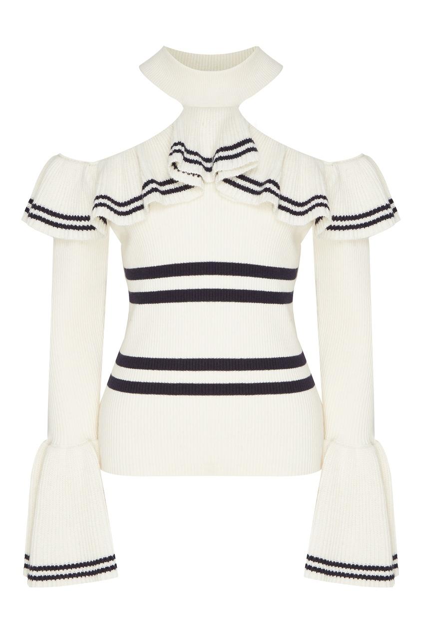 женский свитер self-portrait, белый