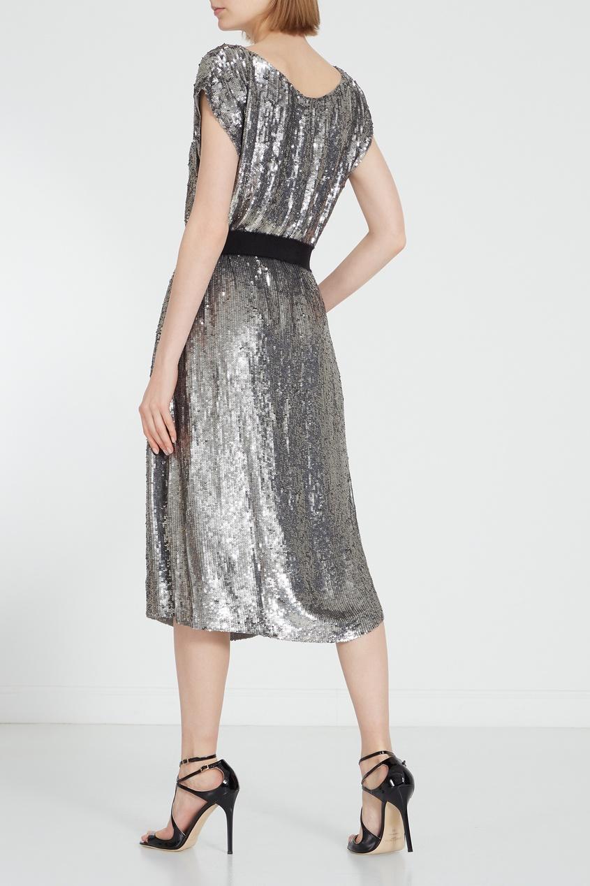 женское платье p.a.r.o.s.h, серебряное