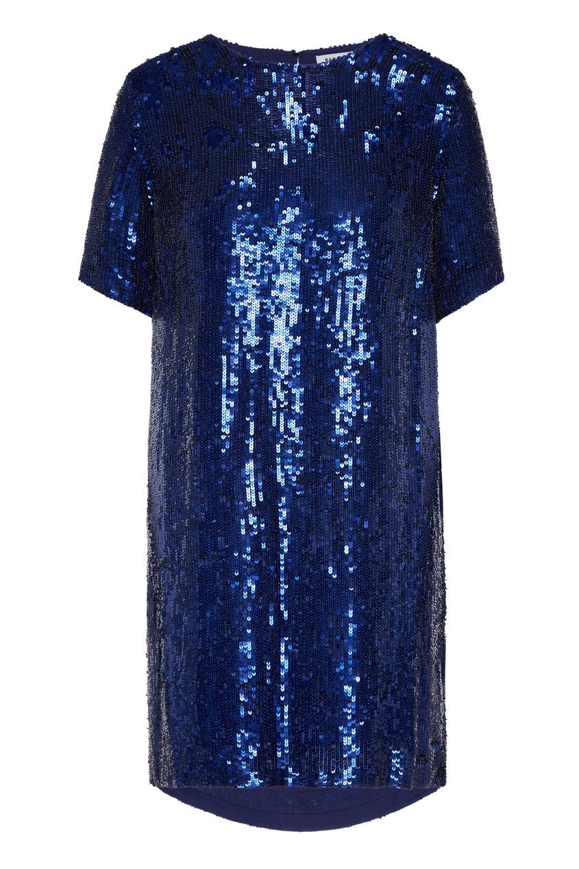 Купить Синее платье с пайетками от P.A.R.O.S.H. синего цвета
