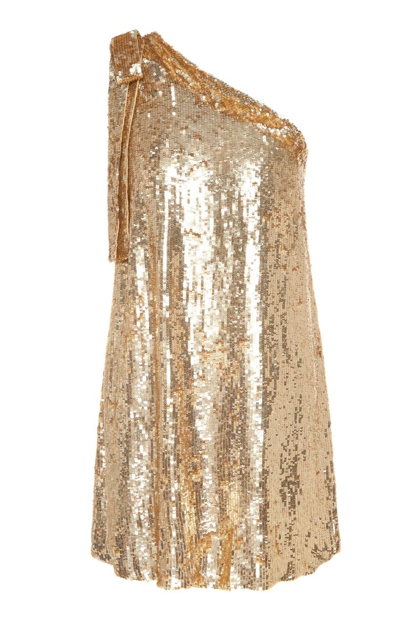 Купить Золотистое платье с пайетками от P.A.R.O.S.H. золотого цвета