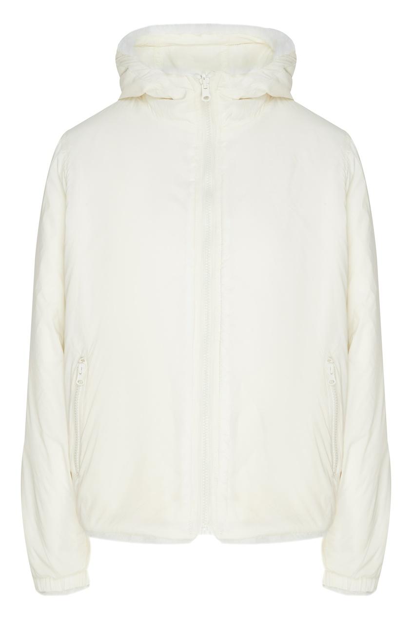 Купить Белая куртка из экомеха от P.A.R.O.S.H. белого цвета