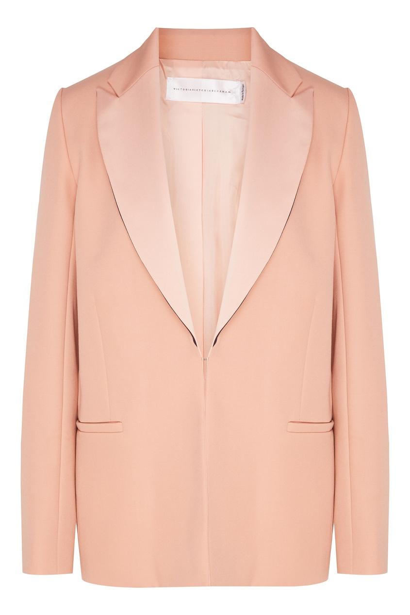 Купить Жакет с фигурными лацканами от Victoria Beckham розового цвета