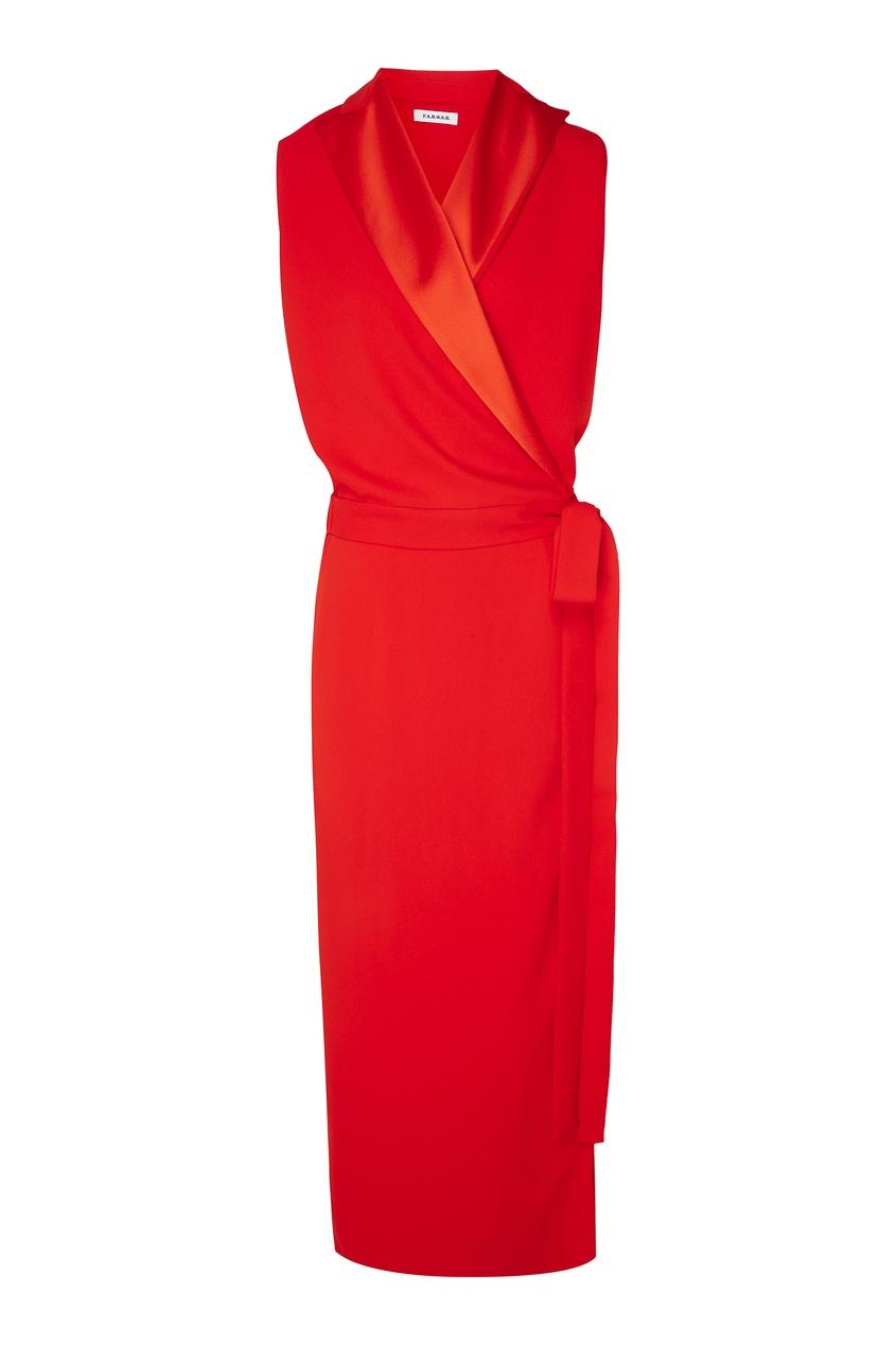 женское платье p.a.r.o.s.h, оранжевое