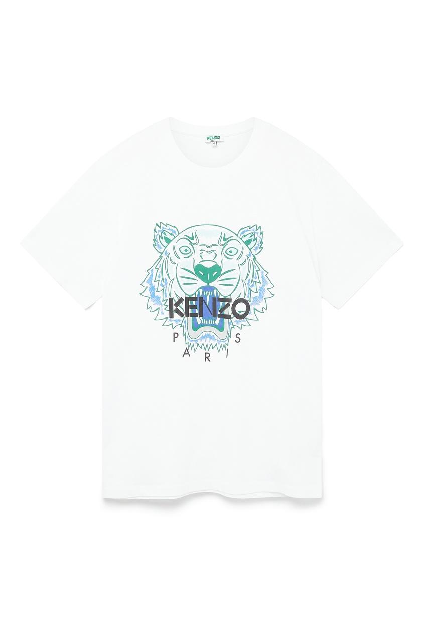 мужская футболка kenzo, белая